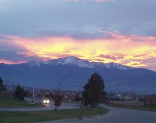 Sunset over Peak