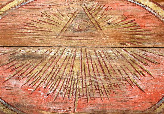 Masonic Eye of Providence in church of Nowosolna moved to Open-air Museum of the Łódź Wooden Architecture