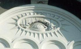 Eye of Providence on the Mormon Temple in Salt Lake City