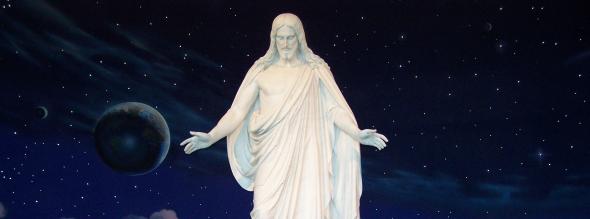 Mormon Jesus Christ at Temple Square in Salt Lake City