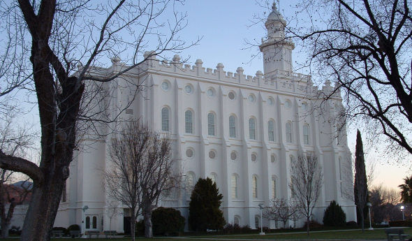 Mormon Temple in Saint George Utah