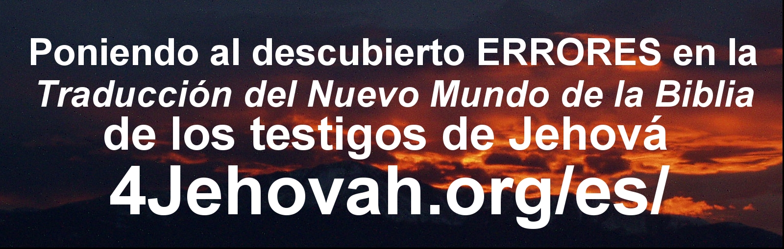 Exposing ERRORS in the New World Translation Bible of Jehovah's Witnesses 4Jehovah.org