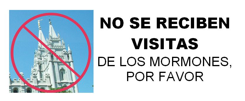 No Visits by Mormons Please